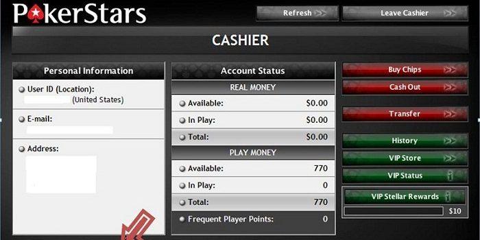 Процедура вывода средств в PokerStars