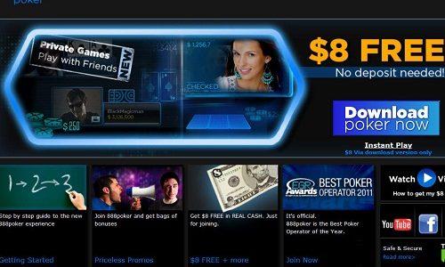 Покер на реальные деньги в 888Poker