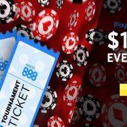 1000 USD в бесплатных турнирах Depositors от 888Poker