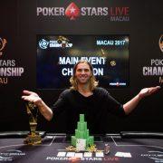 Эллиот Смит выиграл Main Event чемпионата Покер Старс в Макао