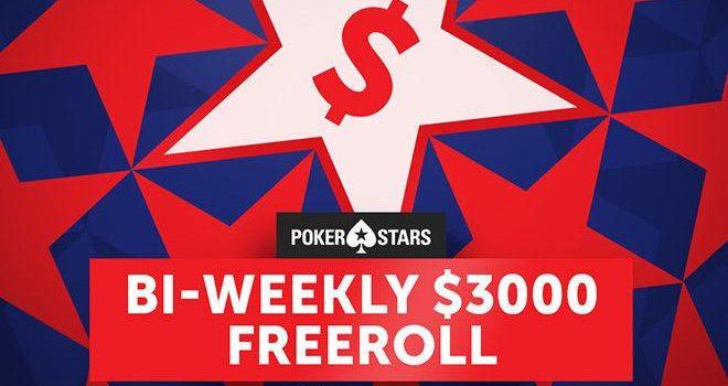 Еженедельные фрироллы Bi от PokerStars на $3 000