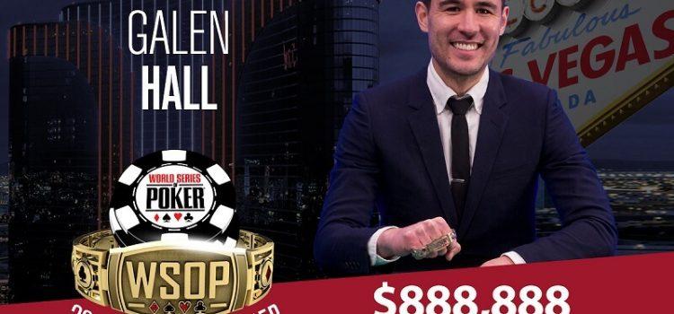 Гален Холл выиграл 888 888$ в турнире WSOP 2018